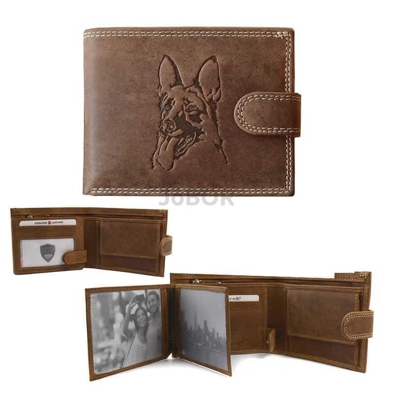 RFID pénztárca kellemes barna színben